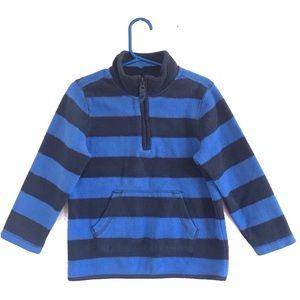 Old Navy Quarter Zip Sweatshirt Stripes Blue 4T